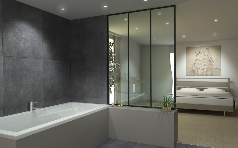 cloison en verre sur mesure cloison vitr e bord bord ou. Black Bedroom Furniture Sets. Home Design Ideas