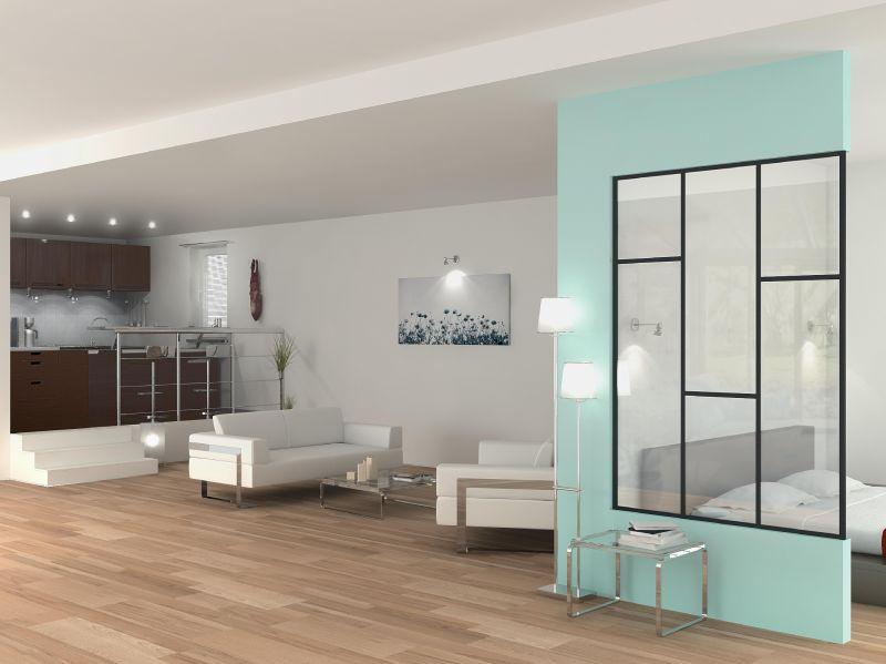 cloison en verre sur mesure cloison vitr e bord bord ou toute hauteur verri re cloison. Black Bedroom Furniture Sets. Home Design Ideas
